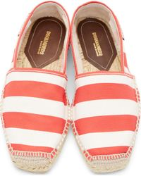DSquared² - White And Red Striped Espadrilles for Men - Lyst
