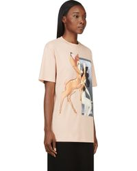 Givenchy - Orange Peach Bambi Graphic T_shirt - Lyst