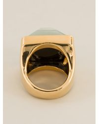 Marc By Marc Jacobs - Green Square Face Ring - Lyst