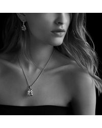 David Yurman   Metallic Cable Wrap Drop Earrings With Diamonds   Lyst