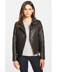 Mackage | Black Quilted Leather Moto Jacket | Lyst