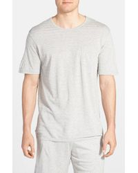 Daniel Buchler - Gray Silk and Cotton Crew Neck T-Shirt for Men - Lyst