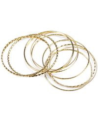 Jones New York | Metallic Gold-Tone Textured Bangle Bracelet Set | Lyst