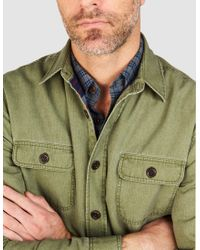 Faherty Brand - Green Blanket-lined Cpo Jacket for Men - Lyst