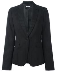P.A.R.O.S.H. | Black Pinstriped Single Breasted Blazer | Lyst