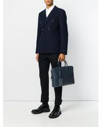 Prada - Blue Classic Laptop Bag for Men - Lyst