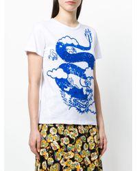 P.A.R.O.S.H. - White Comodo Dragon T-shirt - Lyst
