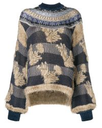Mame - Multicolor Mesh Knit Oversized Sweater - Lyst