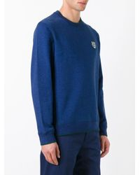 KENZO Blue Mini Tiger Sweatshirt for men