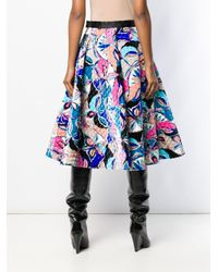 Emilio Pucci - Blue A-line Quilted Skirt - Lyst