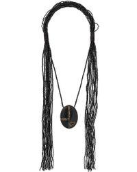 Max Mara - Black Acume Beaded Necklace - Lyst