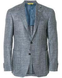 Canali Gray Cu00383202 310 Wool/silk/linen/flax for men