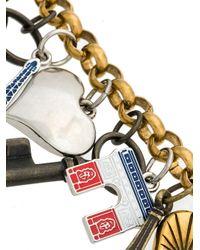 Balenciaga - Metallic Paris Chain Charm Bracelet - Lyst