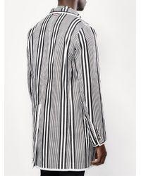 Moncler - Gray Striped Short Coat for Men - Lyst