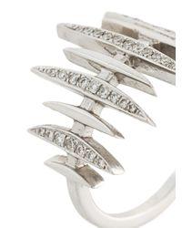 Kamushki - Metallic 'bone' Diamond Ring - Lyst