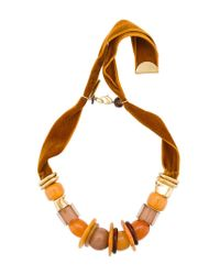 Lizzie Fortunato - Brown Collana 'amber Savanna' Con Pietre - Lyst
