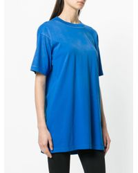 DIESEL - Blue Oversized T-shirt - Lyst