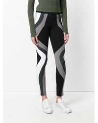 No Ka 'oi - Black Colour Block Leggings - Lyst