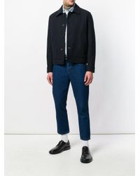 AMI - Blue 5 Pockets Cropped Jeans for Men - Lyst