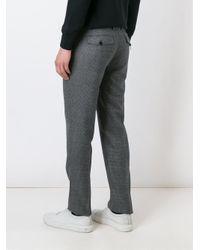 Maison Margiela - Gray Tonal Checked Trousers for Men - Lyst