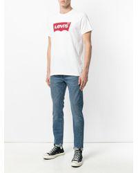 Levi's White Logo Print T-shirt for men