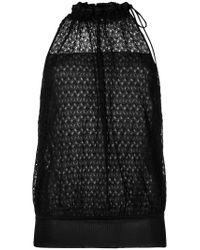 Missoni Black Crochet Sleeveless Top