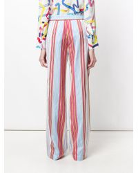 PS by Paul Smith Red Striped Wide-leg Trousers