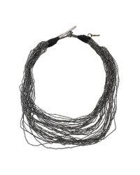 Fabiana Filippi - Gray Multi Strand Necklace - Lyst