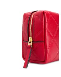 Tory Burch - Red Georgia Small Makeup Bag - Lyst