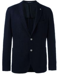 Tagliatore - Blue Two Button Blazer for Men - Lyst