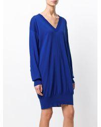 Maison Margiela - Blue Slouched Sweater Dress - Lyst