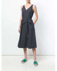 Joseph - Gray V-neck Belted Dress - Lyst