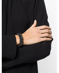 Emanuele Bicocchi - Metallic Woven Chains Bracelet - Lyst