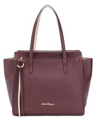 Ferragamo - Purple Large Tote Bag - Lyst