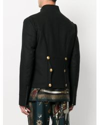 Dolce & Gabbana - Black Buttoned Military Jacket for Men - Lyst