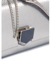 Jimmy Choo - Metallic Lockett City Shoulder Bag - Lyst