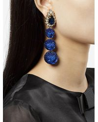 Shourouk - Blue Disco Earrings - Lyst
