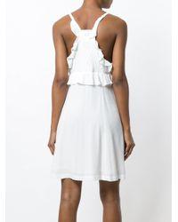 IRO White Sleeveless Ruffle Dress