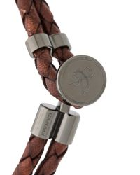 Canali - Brown Woven Bracelet for Men - Lyst