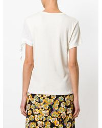 J.W. Anderson - White Single Knot T-shirt - Lyst