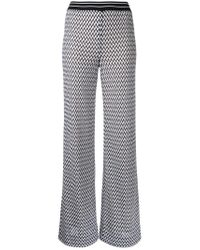 Missoni - White Zig-zag Flared Trousers - Lyst
