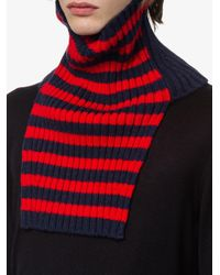 Prada - Blue Wool And Cashmere Tube Scarf for Men - Lyst
