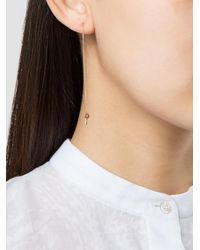 Lauren Klassen - Metallic Tiny Key Chain Earring - Lyst