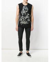Balmain - Black Horse Print Sleeveless Top for Men - Lyst