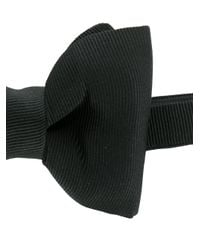 Tom Ford - Black Ribbed Bow Tie for Men - Lyst