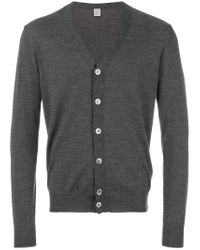 Eleventy - Gray Button Up Cardigan for Men - Lyst