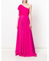 Francesco Paolo Salerno - Pink Asymmetric Ruffle Gown - Lyst