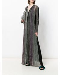 Missoni - Multicolor Metallic Ribbed Long Dress - Lyst