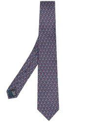 Lanvin - Blue Geometric Print Tie for Men - Lyst