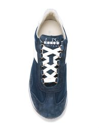 Diadora - Blue Equipe Stone Wash Sneakers for Men - Lyst